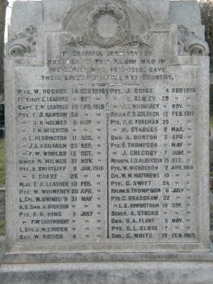 Memorial Inscriptions from Tickhill ChurchMemorial Inscriptions From Tickhill CemeteryMemorial Inscriptions From Heacham Churchyard, NorfolkRead MoreMailing List