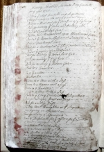 Page 1 of the Accounts of Henry Stables, Constable of Barnburgh, dated 1725.