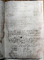 Page 2 of the accounts of Henry Stables, Constable of Barnburgh, dated 1725.